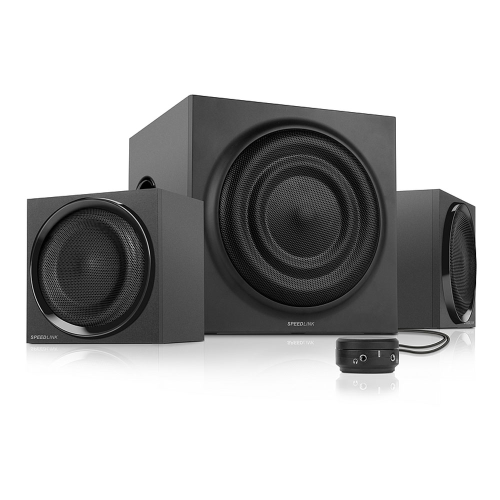 SPEEDLINK Quanum 2.1 Subwoofer Speaker System, Black (SL-8238-BK)