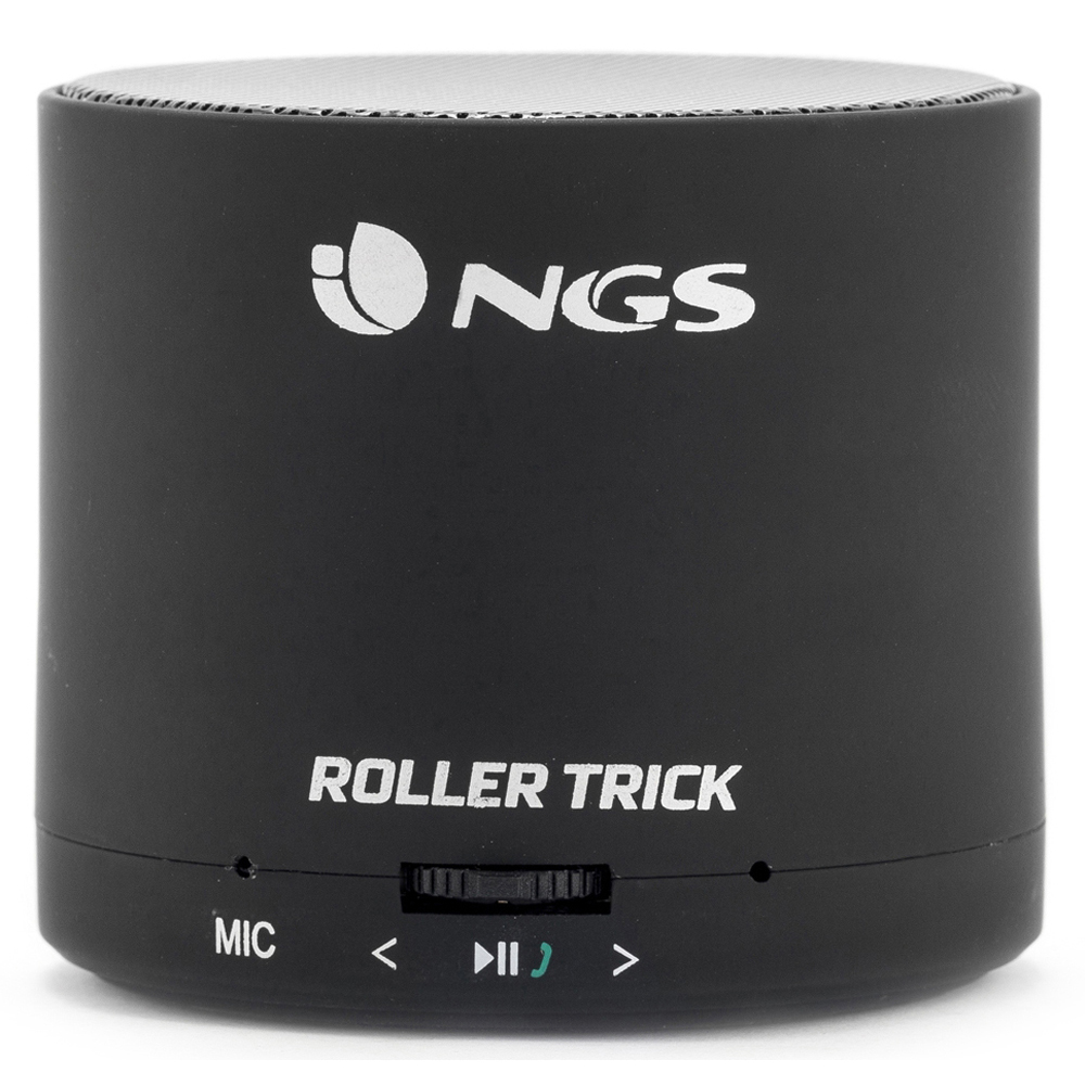 NGS Roller Trick Rechargeable Bluetooth Portable Speaker, Black, 3W (BLACKROLLERTRICK)