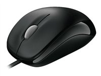 Microsoft Compact Optical Mouse 500 for Business - Mouse - optical - 3 button(s) - wired - USB - bla