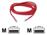 Belkin - Patch cable - RJ-45 (M) - RJ-45 (M) - 1 m - UTP - ( CAT 5e ) - molded, snagless - red