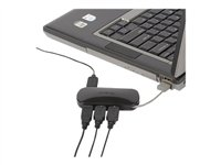 Targus 4-Port Mobile USB Hub - Hub - desktop
