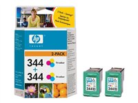 HP 344 - Print cartridge - 2 x colour (cyan, magenta, yellow) - 450 pages
