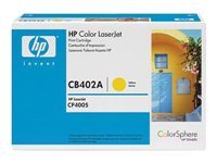HP CB402A - Toner cartridge - 1 x yellow - 7500 pages