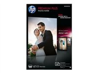 HP Premium Plus Photo Paper - Glossy photo paper - 100 x 150 mm - 300 g/m2 - 25 sheet(s)