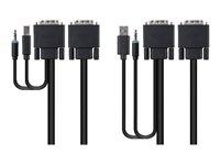Belkin Secure KVM Cable Kit - Video / USB / audio cable kit - 4 PIN USB Type A, mini-phone stereo 3.