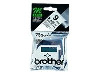 Brother M K221S - Non-laminated tape - black on white - Roll (0.9 cm x 4 m) - 1 roll(s)