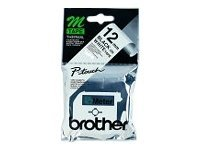 Brother M K231S - Non-laminated tape - black on white - Roll (1.2 cm x 4 m) - 1 roll(s) - blister