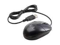 HP Optical USB Travel Mouse - Mouse - optical - 3 button(s) - wired - USB
