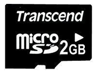 Transcend - Flash memory card - 2 GB - microSD