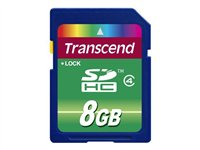 Transcend - Flash memory card - 8 GB - Class 4 - SDHC