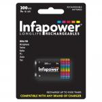 INFAPOWER 9v 200mAh Ni-Mh Rechargeable Batteries, Single Pack (B010)