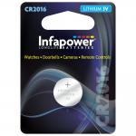 INFAPOWER CR2016 Lithium Coin Cell, 3V (L904)