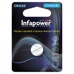 INFAPOWER CR1620 Lithium Coin Cell, 3V (L906)