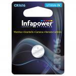 INFAPOWER CR1616 Lithium Coin Cell, 3V (L907)