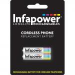 INFAPOWER AAA 700mAh Ni-Mh Cordless Phone Replacement Rechargeable Batteries, Short Code 59, 2 Pack