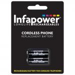 INFAPOWER 400mAh 1.2v iDect 2/3 AAA Ni-Mh Rechargeable Replacement Batteries for Cordless Phone, Sho