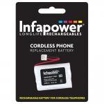 INFAPOWER 600mAh 3.6v AAA Ni-Mh Rechargeable Replacement Batteries with JST-EHR2 Connector for Cordl