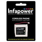 INFAPOWER 600mAh 2.4v Ni-Mh Prismatic Rechargeable Replacement Batteries with JST-ZHR2 for Cordless
